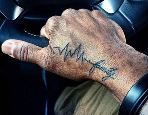 Тату пульс на руке мужчины - фото