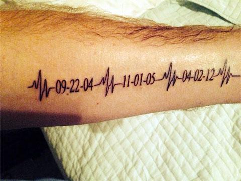 Мужская тату пульс на руке