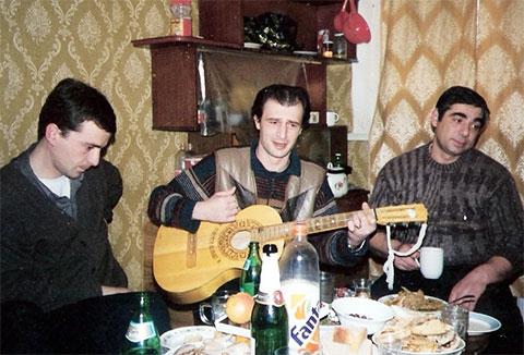 Слева воры в законе: Платон Мамардашвили (Паата), Тенго Луарсабишвили и Рауль Кирия