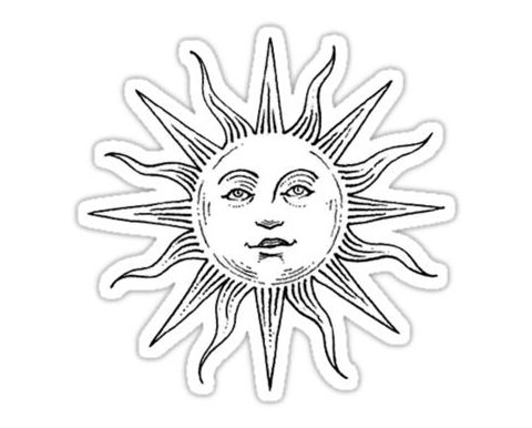 Эскиз для тату солнце