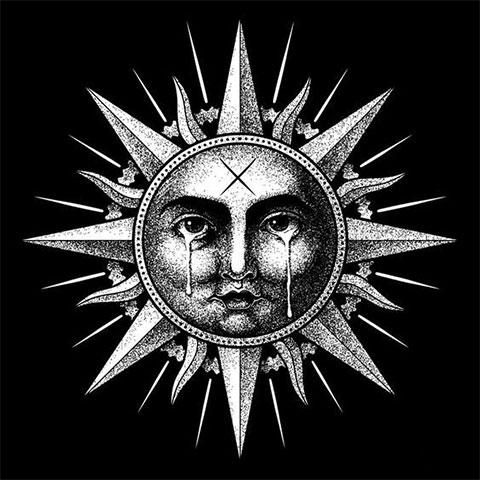 Тату солнце - эскиз