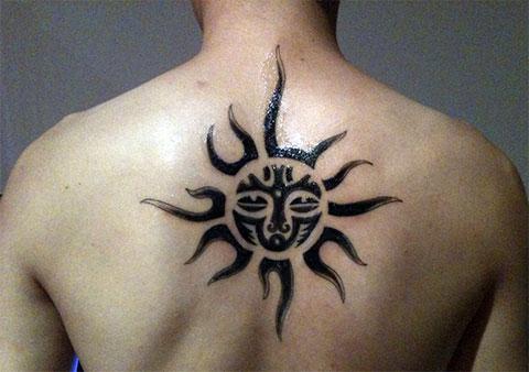 Тату солнце