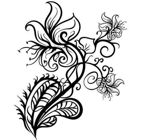 Эскиз для тату цветы на руку