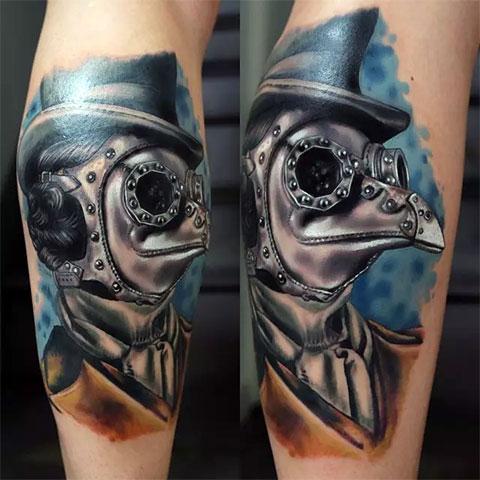Фото татуировки киберпанк
