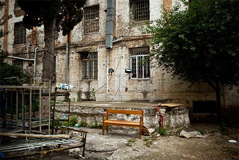Внутренний двор Ортачальской тюрьмы