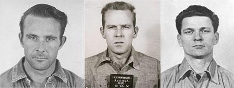 Сбежавшие из Алькатраса. Слева: Кларенс Энглин, Джон Энглин и Фрэнк Моррис