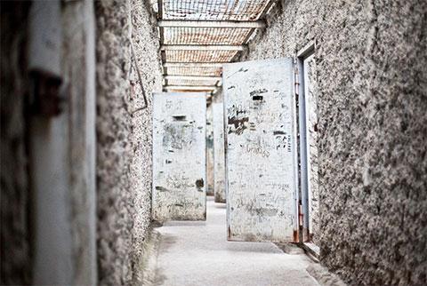 Ортачальская тюрьма - верхний этаж для прогулок заключенных