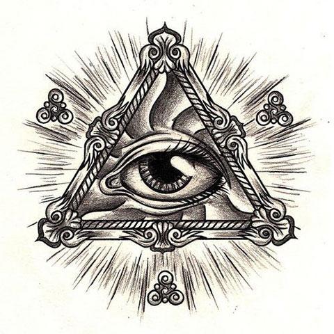 Эскиз для тату всевидящее око