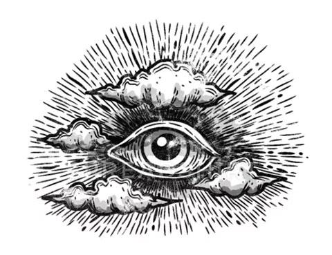 Тату всевидящее око - эскиз