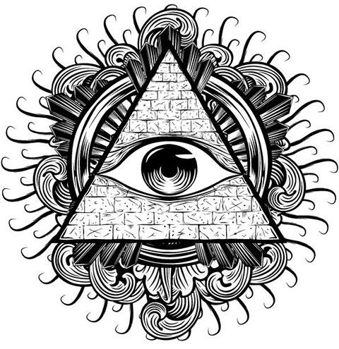 Эскиз тату всевидящее око
