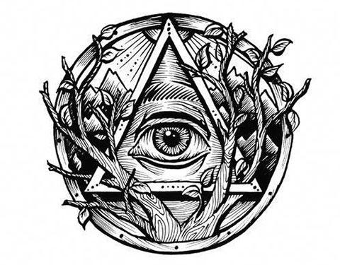 Всевидящее око - эскиз тату