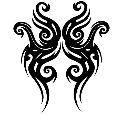 Кельтский узор - эскиз для татуировки на плече