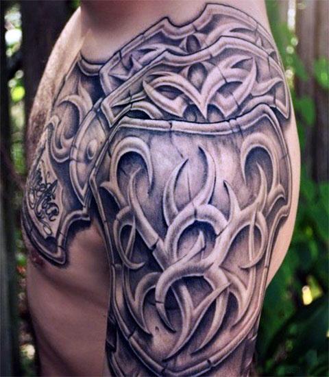 Тату кельтский узор на плече - фото