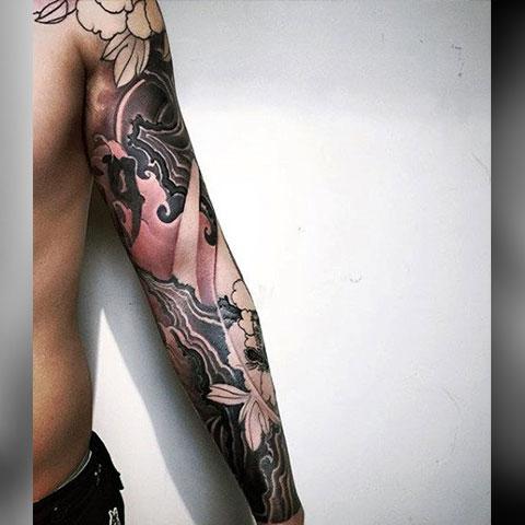 Китайская татуировка-рукав