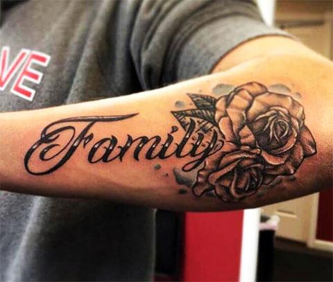 Татуировка на предплечье у мужчины - фото