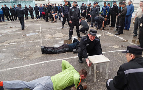 Спартакиада среди заключенных в ИК-6 Мелехово