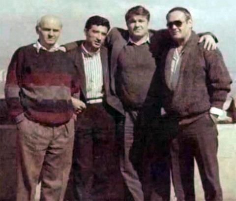Слева воры в законе: 2) Нодар Фаризян (Ноно), 3) Евгений Васин (Джем), 4) Константин Коберидзе (Кока)
