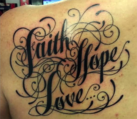 Тату вера надежда любовь - фото