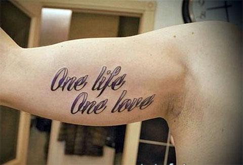 Тату одна жизнь одна любовь - фото