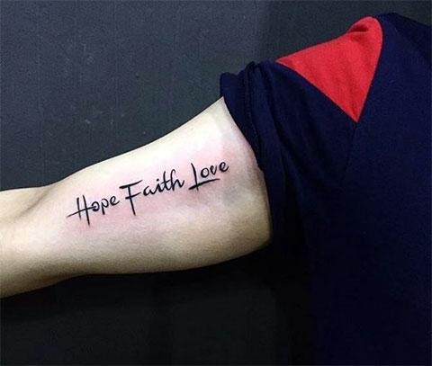 Тату вера надежда любовь