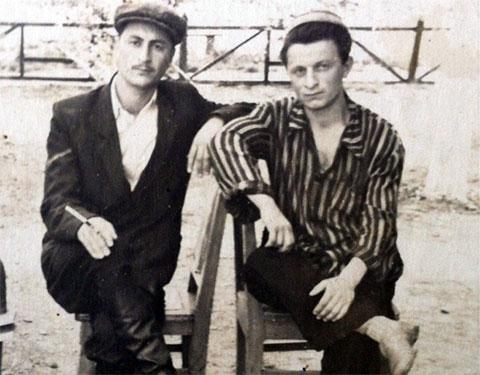 Слева воры в законе: Георгий Давидов (Жорик Массивский) и Нодари Григолая (Спило)