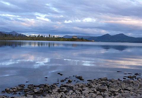 Озеро Лабынкыр в Якутии