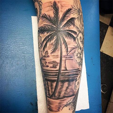 Тату пальма - фото