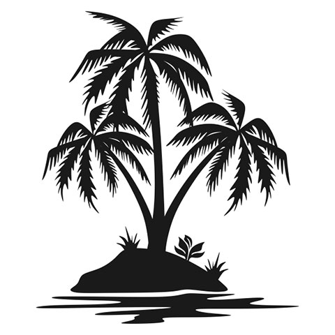 Пальмы - эскиз для тату