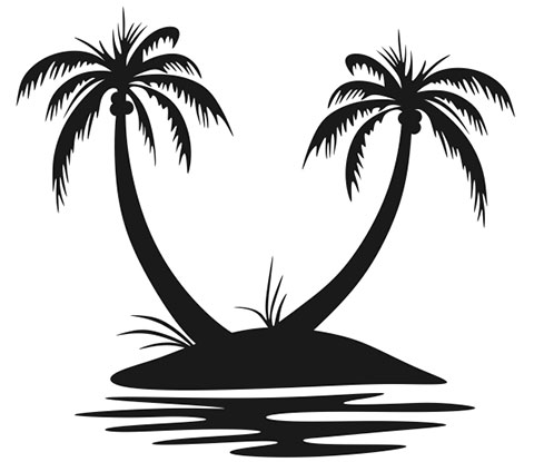 Эскиз пальмы для тату