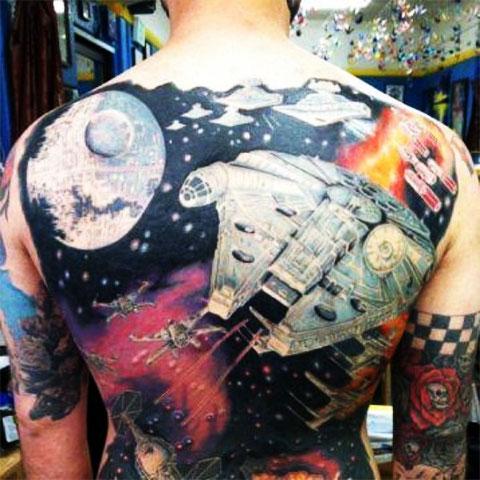 Тату Звездные войны на спине