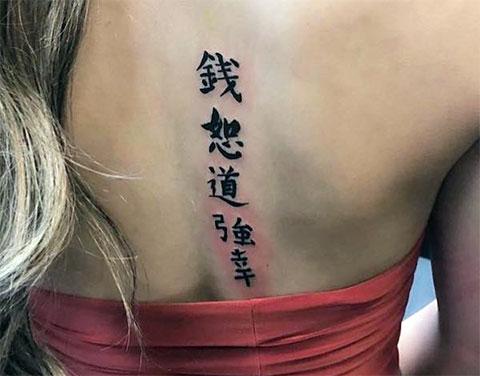 Тату иероглифы для девушек