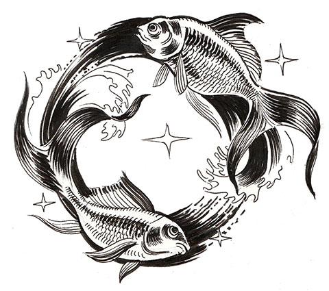Татуировка графика - эскиз