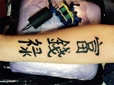 Фото тату иероглифы на руке