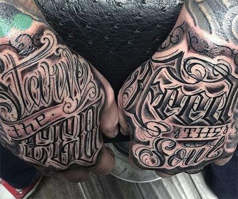 Татуировки надписи на руках - фото