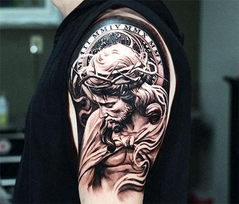 Фото тату на плече для мужчин