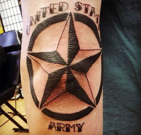 Фото татуировки звезда на локте