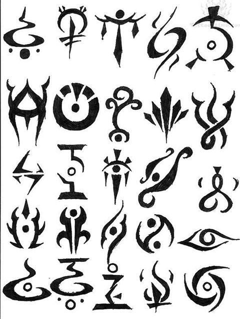 Эскизы для тату символы