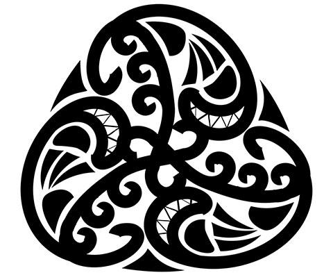 Эскиз символа для татуировки