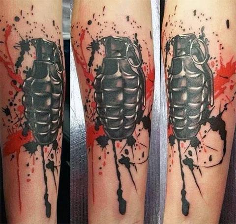 Фото татуировки в стиле треш полька