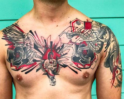 Треш полька - мужской вариант татуировки