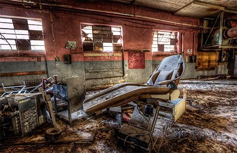 Больничный отсек заброшенной тюрьмы