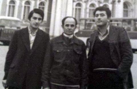 Слева воры в законе: Дато Хомасуридзе (Швейка), Сарик Манаселян и Важа Биганишвили (Важа Тбилисский)