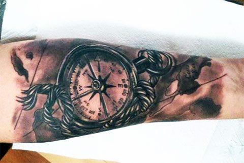 Татуировка компаса
