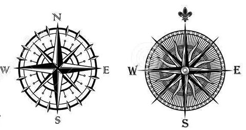 Эскизы для татуировки роза ветров