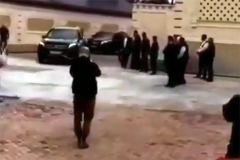 Приезд Ахмеда Домбаева в Чечню