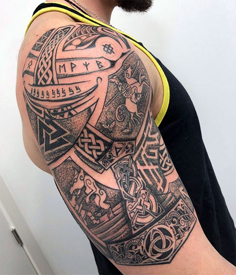 Кельтские татуировки на предплечье