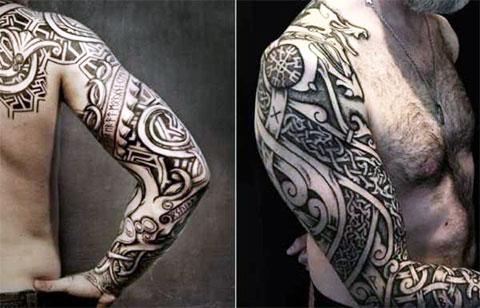 Кельтские тату рукав