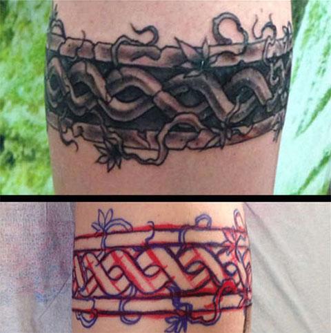 Кельтские тату-браслеты