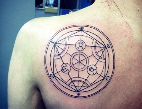 Татуировка алхимический круг
