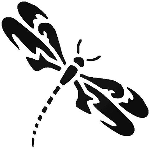 Эскиз стрекозы для тату
